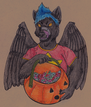 Put the candy in the bucket by TornFeathers
