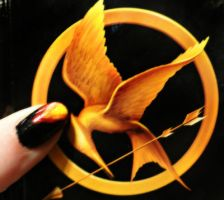 Hunger Games Inspired Nails by TiredZombie98