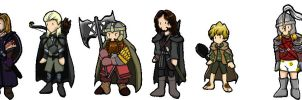 Lord of the Rings Chibis by vampirehosad