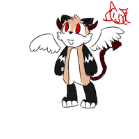 Demon Angel Cat Dog Adopt by MyDoggyCatMadi