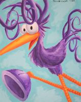 Suction-Footed Tweep painting by e-tahn