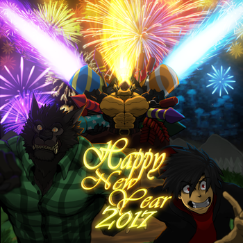 Happy New Year (2017) by WarGreymon43