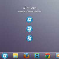 Win8 orb for Windows 7 by AlexandrePh