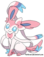Sitting Sylveon by Fishlover