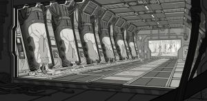 Sci-Fi Horror - Main Linework by waywalker