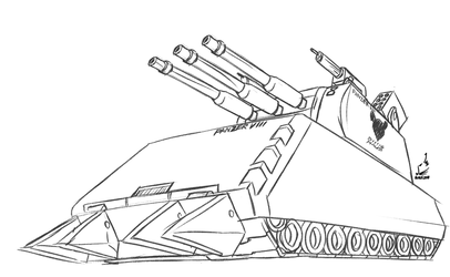 Comm chacumera: Maus Tank (Metal Saga) by prdarkfox