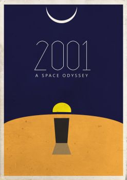 2001: A Space Odyssey Vintage Movie Poster by matthindle