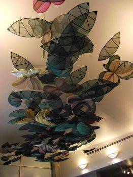 ceiling of butterflies by beccarrr