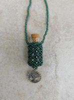 Beaded Bottle with Tree of Life charm by FeynaSkydancer