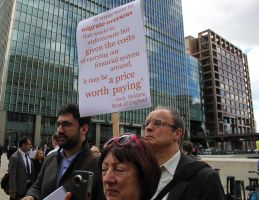 Protest the Banks. by LouHartphotography