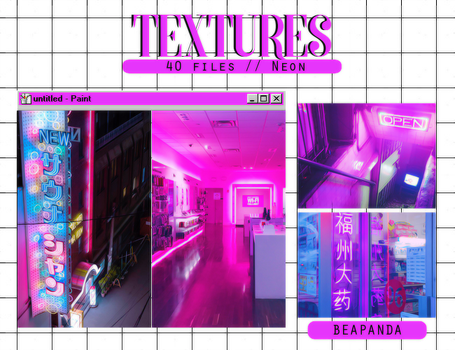 Textures 039 // Neon by BEAPANDA
