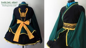 Loki - Thor + The Avengers - Cosplay Kimono Dress by DarlingArmy