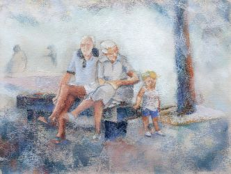 Boy with Grandparents by tutanvaly