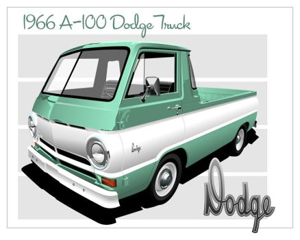 1966 A-100 Dodge by kenpoist