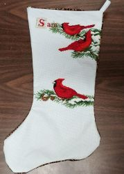 Cardinal Stocking by Glori305