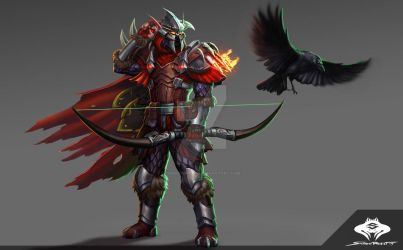 ...Commission: Blood Elf Hunter... by ShadowPriest