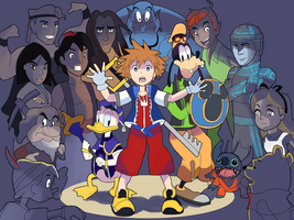 Kingdom Hearts: Worlds Collide by AlSanya
