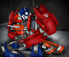 I Need You - Causeway and Optimus Prime by ElitaOneArts
