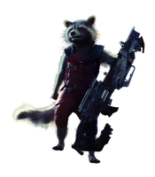 Rocket Raccoon - Transparent by Asthonx1