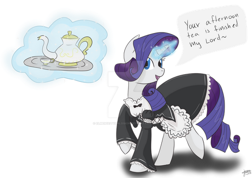 Maid Rarity (Reqest) by Elmer157Typhlosion