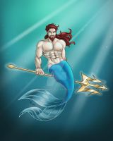 Young Prince Triton by EricKnupp