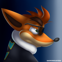 Crash Biker Bandicoot by SuaveVanillaFiend