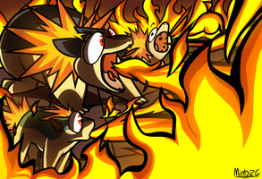Cyndaquil Line Committing Mass Arsen by MintyZedGrimes