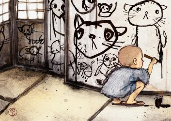 the boy who drew cats by Veleven