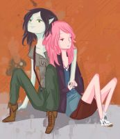 Teenage PB and Marcy by kindagirly