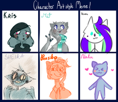 character artstyle meme by pff-f