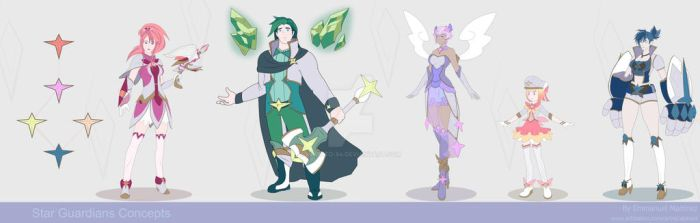 Star Guardians' Team by kalixto-94