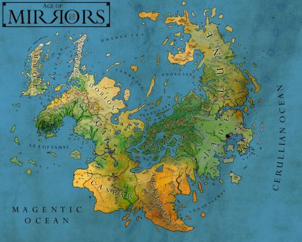 Realm of Mirrors:  Official Map by Rivendude