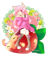 Strawberry kitten by XMireille-chanX