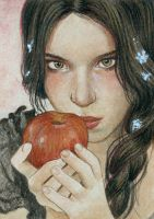 Snow White - ACEO by KatrinaWinter