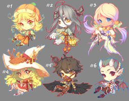 [CLOSED] Auction - Halloween Adopts! by Hell-Alka