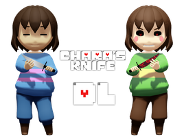 MMD Undertale - Chara's knife by MagicalPouchOfMagic