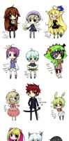 Requests Chibis 3 by Kimqi