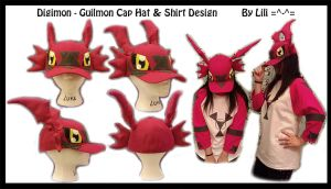 Guilmon Hat and Shirt Cosplay by LiliNeko