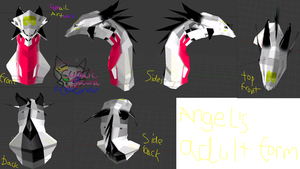 Angel Adult form 3d model by AngelCnderDream14
