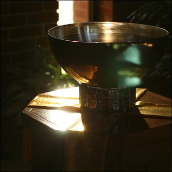 Baptismal font - Oct 2009 by pearwood