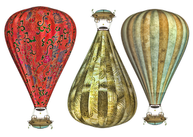 Steam Balloon PNG Stock by Roy3D