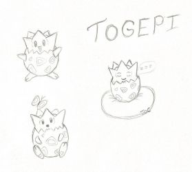 Togepi fan art by searingdestiny