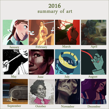 2016 Art Summary by reynagroff