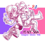 YCH Couple Auction - Peace Sign [CLOSED] by MyGhostlyShop
