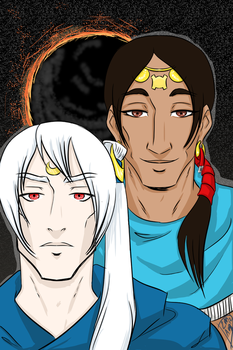 The Moon King and the Sun God by draw2much
