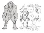 TMNT character sketches by drnlds
