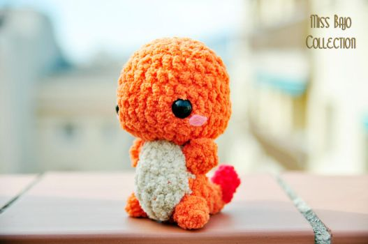 Fluffly Charmander Pokemon by MissBajoCollection