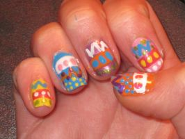 Easter Nails -right- by yellow-tulips