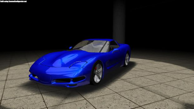 Blue Corvette by Fadeless451