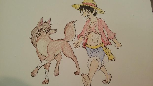 Me and Luffy by XfangheartX